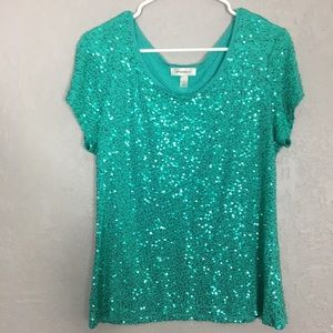 Dress Barn sequin top size large